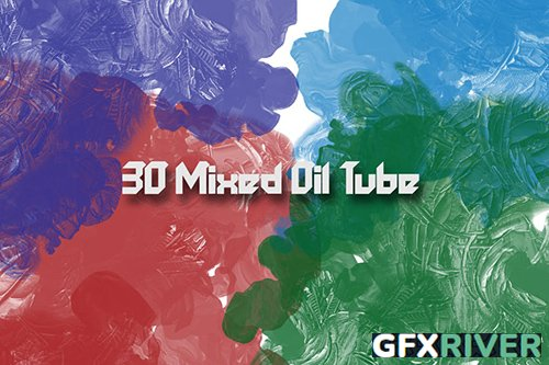 30 Mixed Oil Tube Brushes