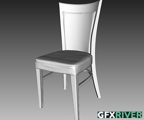 Wooden Chair - 3D Scan