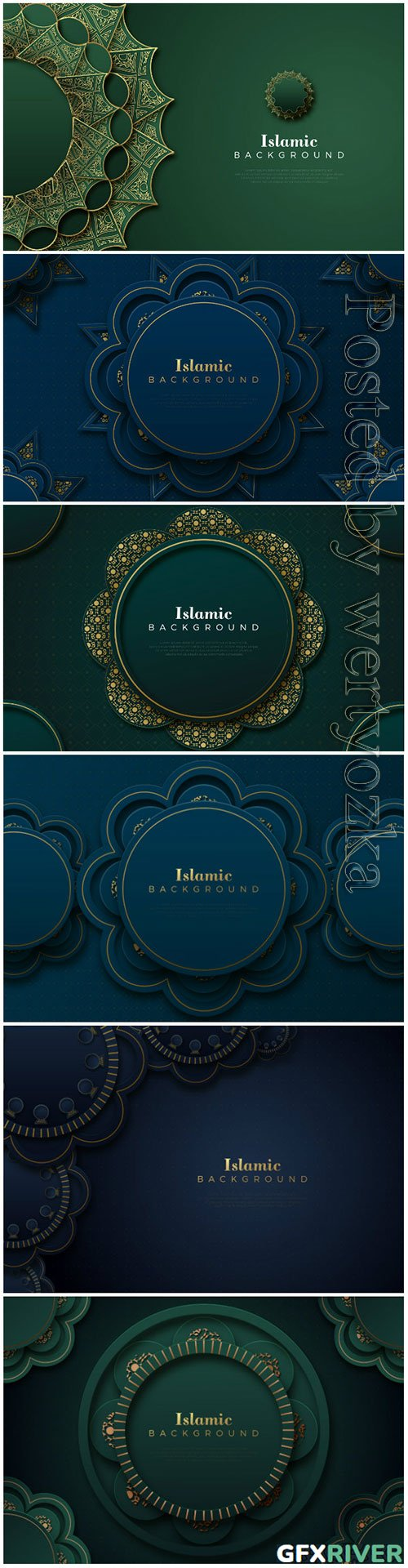 Islamic vector background with classic ornaments