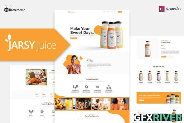 Jarsy Juice v1.0.01 - Drink Brand Elementor Template Kit - 29664893