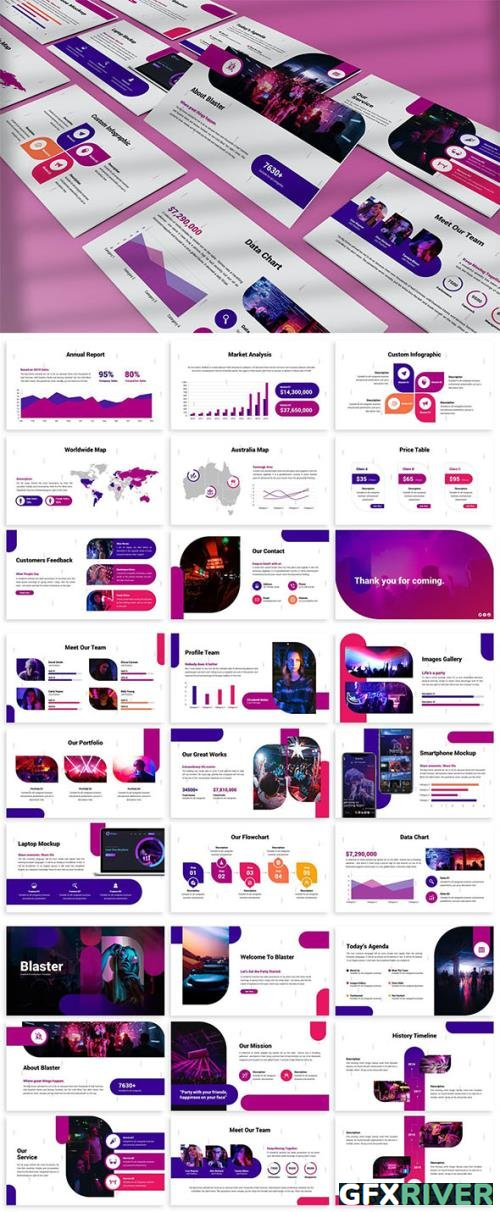 Blaster - Abstract Powerpoint Template by [SlideFactory]