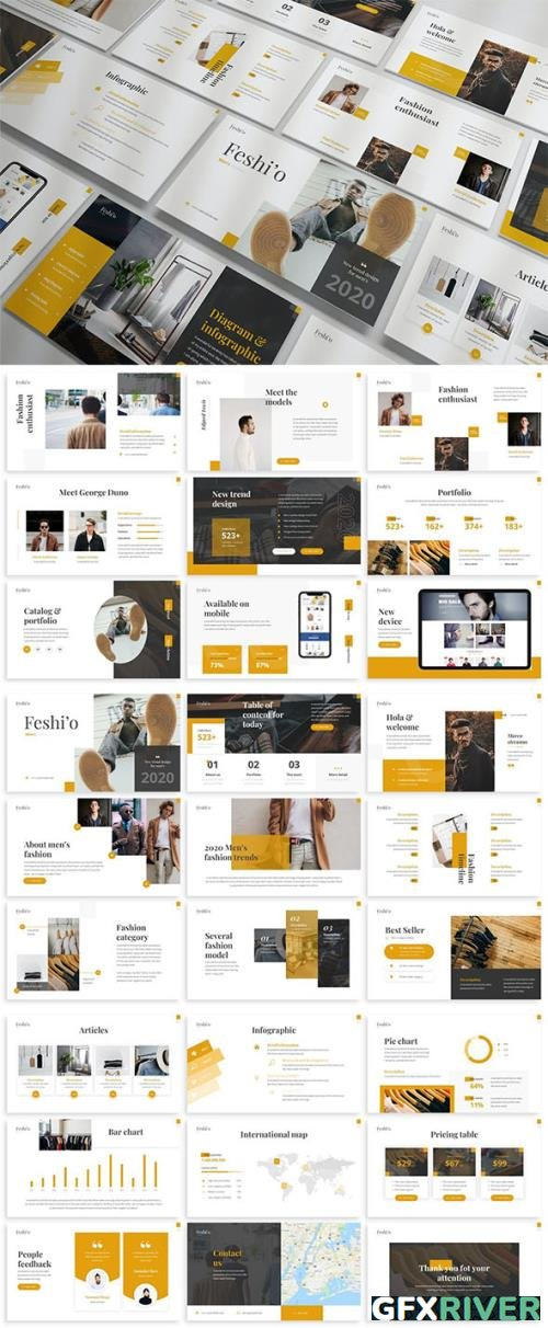 Feshio - Fashion Powerpoint Template by [SlideFactory]