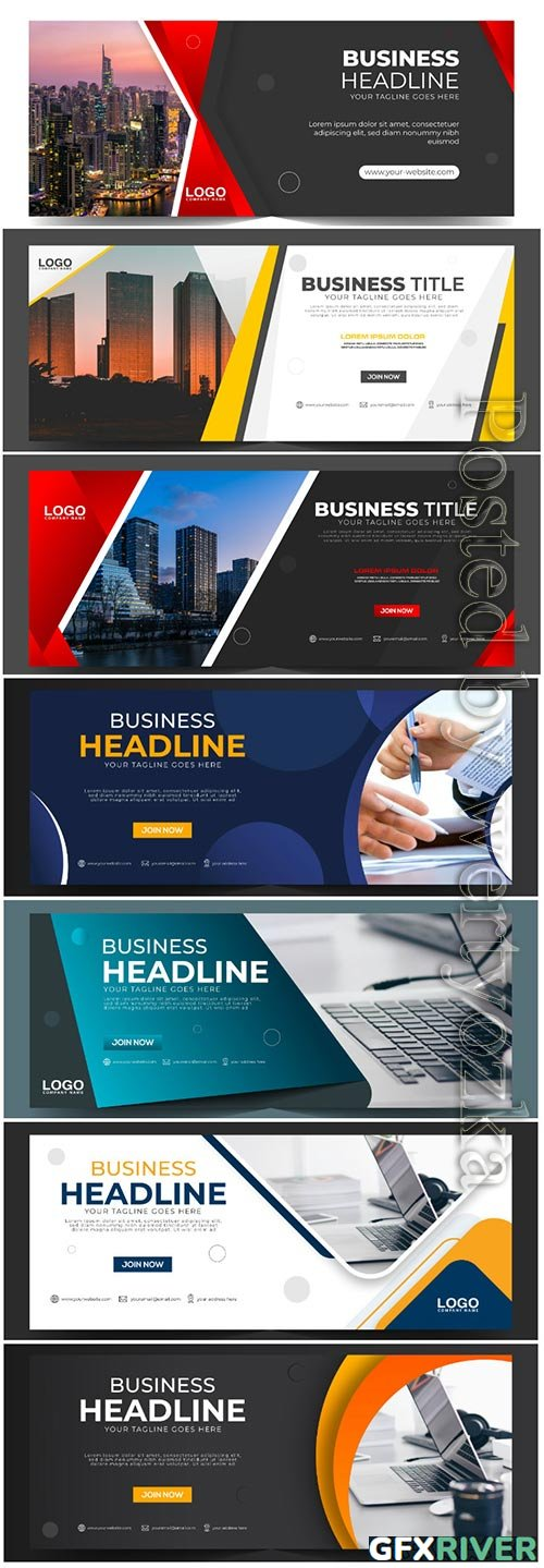 Corporate business banner vector template