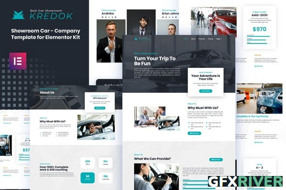 ThemeForest - Kredok v3.0.11 - Car Showroom Elementor Template Kit - 29789743