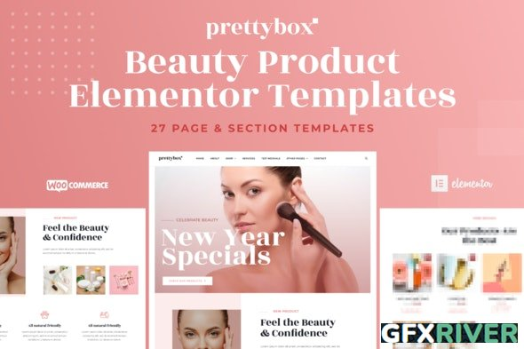 ThemeForest - Prettybox v1.0.0 - Cosmetic & Beauty Products Shop Elementor Template Kit - 29915338