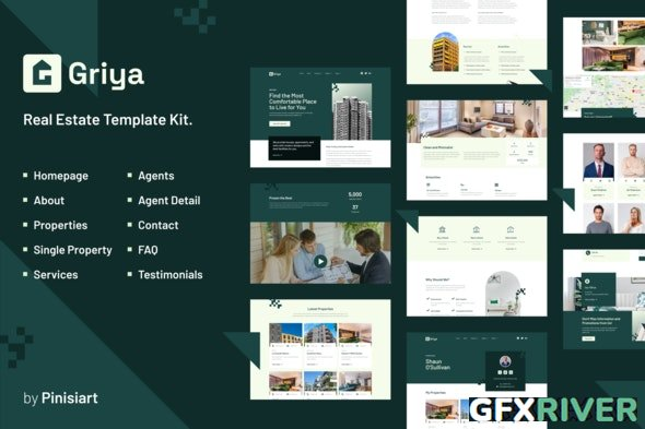 ThemeForest - Griya v1.0.1 - Real Estate Elementor Template Kit - 29934249