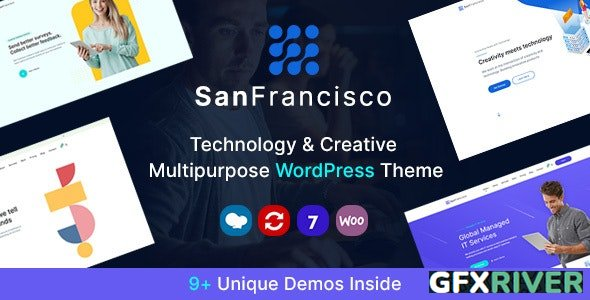 ThemeForest - San Francisco v1.6 - IT Technology and Creative WordPress Theme - 27062705
