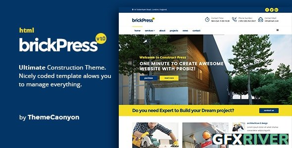 ThemeForest - BrickPress v1.0 - Construction & Building HTML5 Template - 19227682