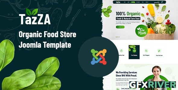ThemeForest - TazZA v1.0.0 - Organic Food Store Joomla Template - 30006704