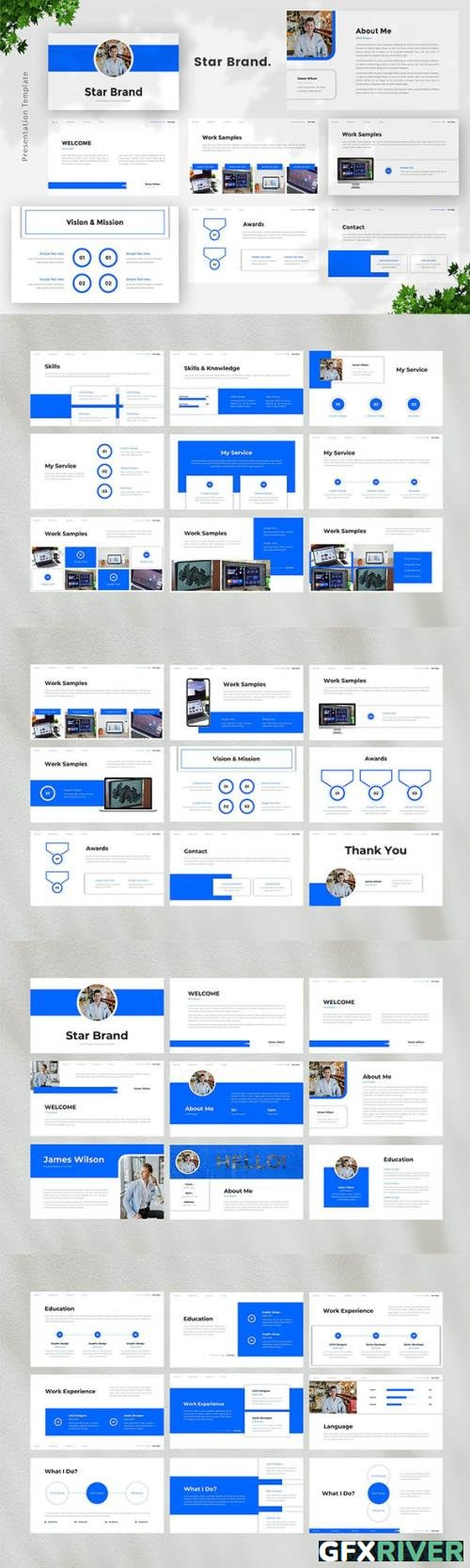 UI/UX Designer Powerpoint, Keynote and Google Slides Template