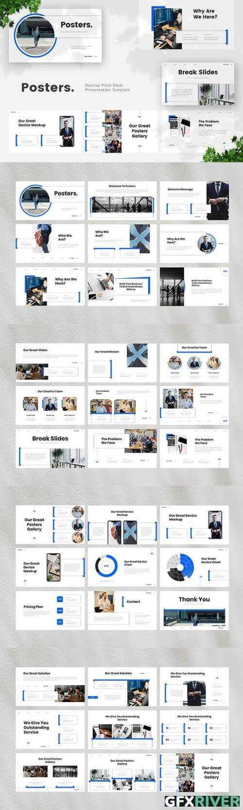 Startup Pitch Deck Powerpoint, Keynote and Google Slides Template