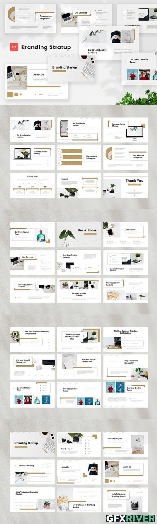 Startup Branding Powerpoint, Keynote and Google Slides Template