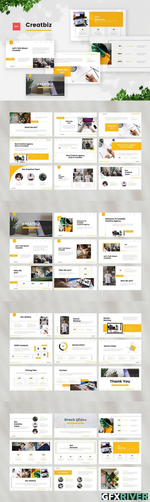 Creative Business Powerpoint, Keynote and Google Slides Template