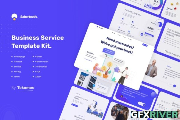 ThemeForest - Sabertooth v1.0.3 - Business Service Elementor Template Kit - 30101654