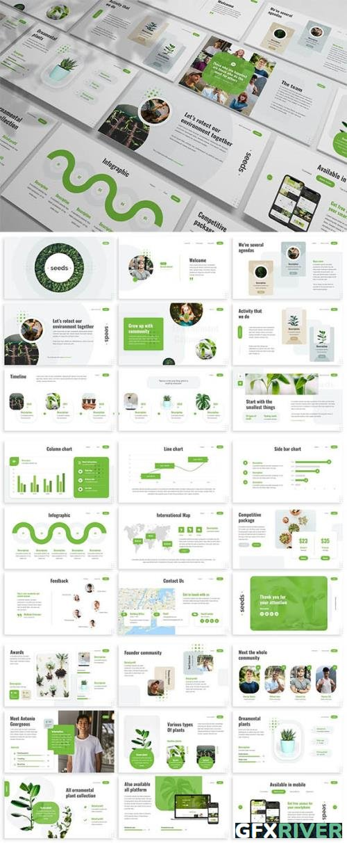 Seeds - Nature Powerpoint Template