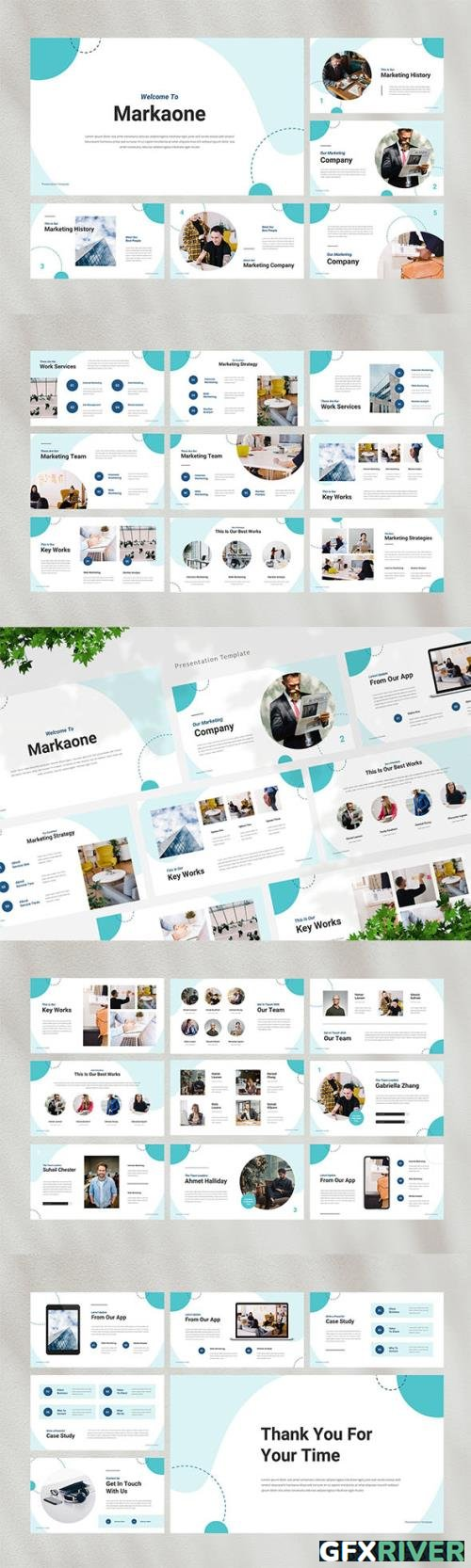 Marketing Powerpoint, Keynote and Google Slides Template