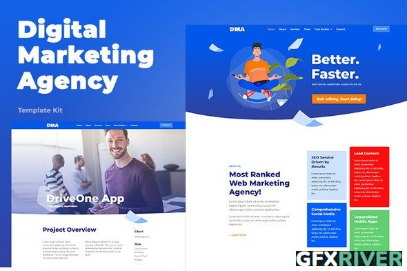 ThemeForest - DMA v1.0.0 - Digital Marketing Agency Template Kit (Update: 26 July 20) - 26414758