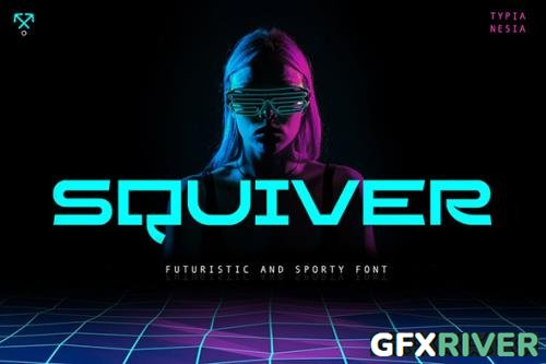 Squiver - Futuristic and Sporty Sans