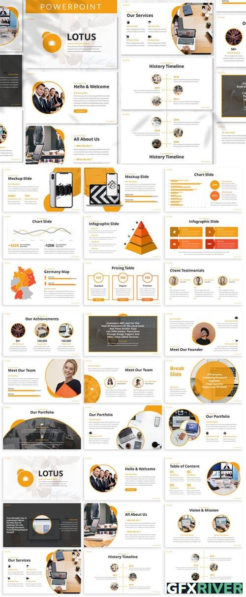 Lotus - Business Powerpoint, Keynote and Google Slides Template