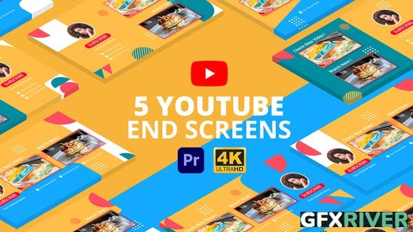 VideoHive - YouTube End Screens Vol.3 | Premiere Pro MOGRT - 29415274