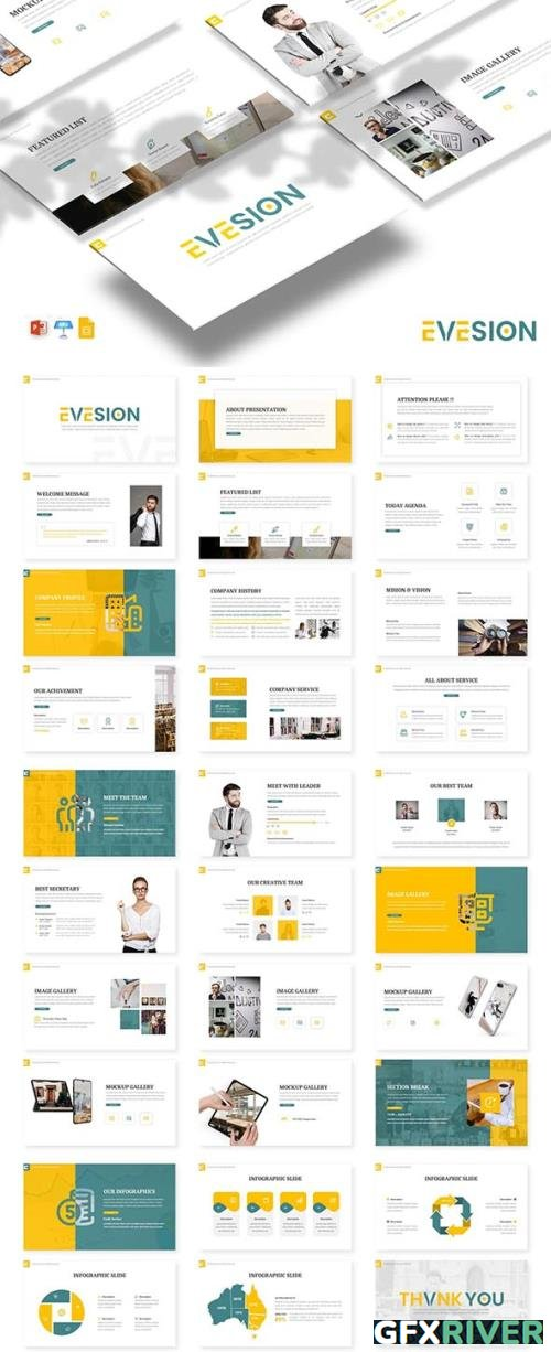 Evesion - Business Template PPTX / GSlides / Key
