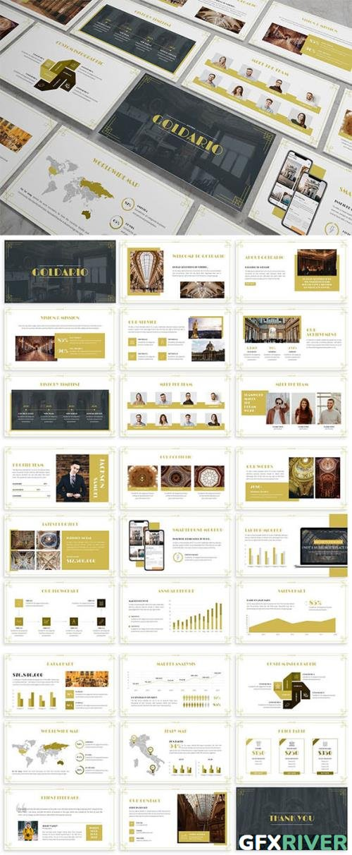 Goldario - Art Deco Powerpoint Template