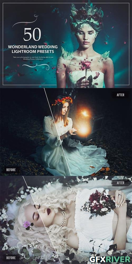 50 Wonderland Wedding Lightroom Presets 5784307
