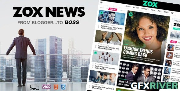 ThemeForest - Zox News v3.7.0 - Professional WordPress News & Magazine Theme - 20381541