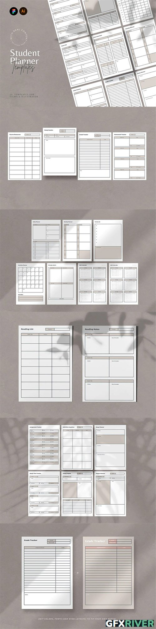 Student Planner Templates