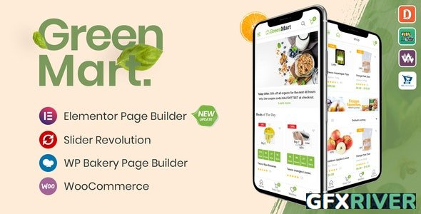 ThemeForest - GreenMart v3.0.10 - Organic & Food WooCommerce WordPress Theme - 20754270
